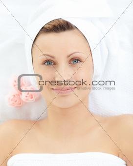 Charming woman having a massage
