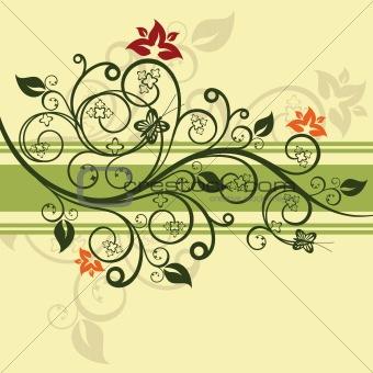 Green floral illustration