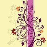 Purple and pink floral illustration