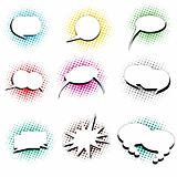 cartoon talk bubbles