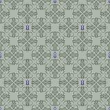 Seamless green and purple floral wallpaper
