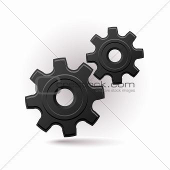 black gears icon