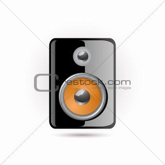 black speacker icon