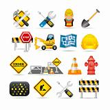 road icon set