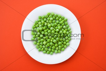 Green peas in plate