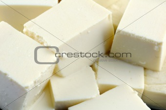 Tofu close up