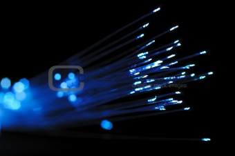 Blue optical fibers