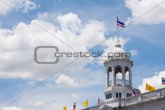 flag thai on the sky