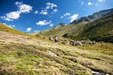woman hiking in gredos valley
