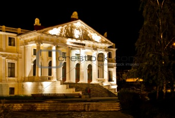 The Anatomy Institute at night in Iasi, Romania