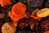 Various dried fruits close-up