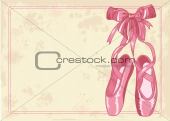 Ballet slippers background