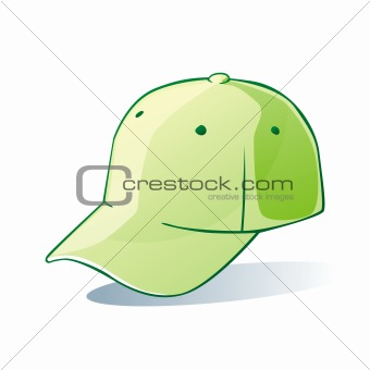 illustration of isolated hat