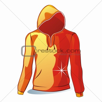 illustration of isolated hoodies