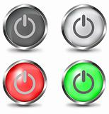 vector power button set