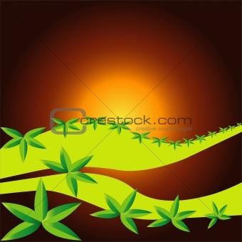 five leaves pattern