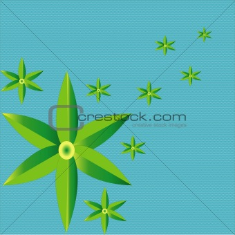 six leaves pattern with blue background