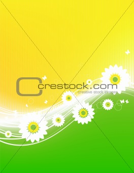 Floral abstract background for your design