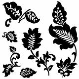 Vector Set of Leaf Ornaments