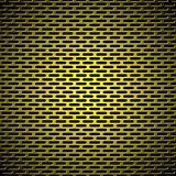 slot grill gold metal background