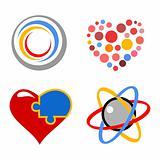 lovely vector heart symbols