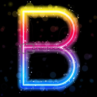 Alphabet Rainbow Lights  Glitter with Sparkles