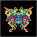 Abstract butterfly vector poster template.