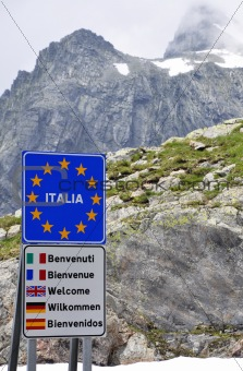 At the Italian Border