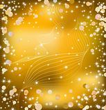 Gold background with sparkles. Vector