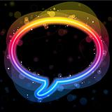 Rainbow Lights Speech Bubble