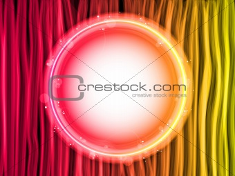 Abstract Red Lines Background with White Circle