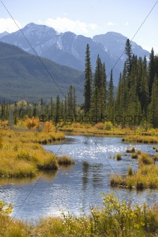 Autumn scene in the Rockies