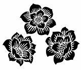 Vector Rose Blossom Ornaments