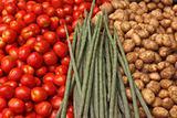 Vegetable market. India