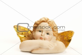 angel figurine upper part of body