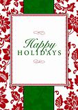 Vector Holiday Themed Frame and Pattern
