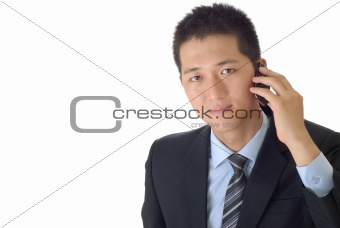 businessman use cellphone