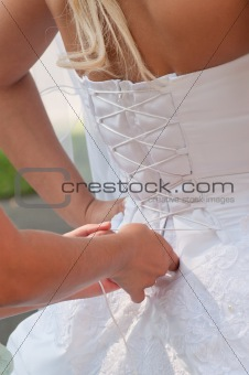 Tightening brides corset