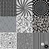 Set of black and white backgrounds