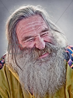 laughing old man 