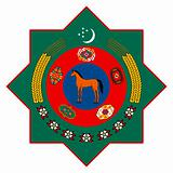 Turkmenistan Coat of Arms