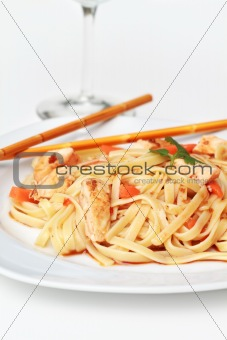 Asian Chicken Pasta