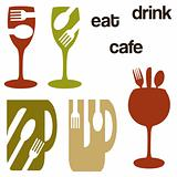 cafe food and drink graphics