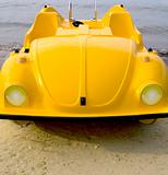Yellow car pedalo
