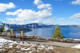 A Seat by Crater Lake