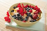 cereal and wild berries