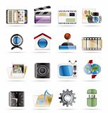 Internet, Computer and mobile phone icons