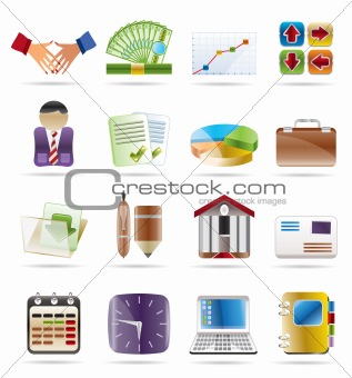 Finance, Business and office icons