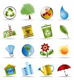 Realistic Icon - Ecology - Set for Web Applications
