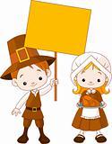 Thanksgiving Pilgrims couple